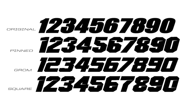 2017 Number Styles