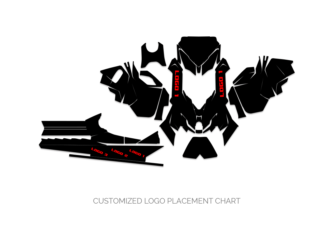 Ski Doo XM Logo Placement Chart